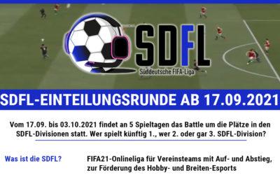 Start der SDFL-Einteilungsrunde am 17. September